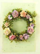 Dollhouse Miniature Artisan Handmade Rose Circle Wreath, Lavender #5
