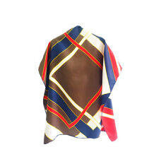 Checks 100% silk classy sqaure full scarf for men women browm colorful P702416