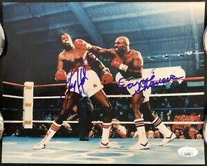 Larry Holmes Signed Photo 8x10 Earnie Shavers Autograph Boxing HOF Caesars JSA