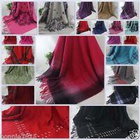 Sale New Square large Vintage plaid Cashmere Wool Soft Warm Wrap Shawl Scarf