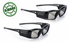 2x Hi-SHOCK DLP 7G Black Diamond | DLP Link 3D Brille für Beamer Acer, Optoma LG