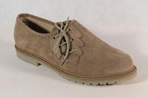 Bleil Mujer Zapatos para Traje Haferlschuh Zapato Bajo Cuero Beige Nuevo