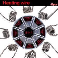 48pc 8 in1 Demon Killer Wire Prebuilt Pre Built Coils RDA RTA Coil Spirals Fused