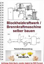 Blockheizkraftwerk BHKW bauen Brennkraftmaschinen Technik 9500 Seiten PDF