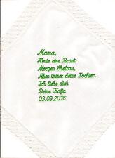 Taschentuch Text Datum Hochzeit