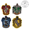 Harry Potter Gryffindor Slytherin Hufflepuff Embroidered Sew/Iron On Patch Badge