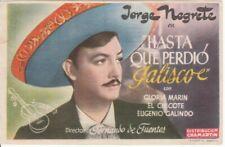 Image / programme—Film mexicain «Hasta que perdió Jalisco»—Jorge Negrete—1945