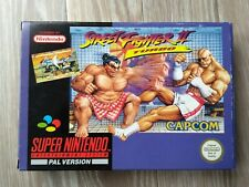 Super Nintendo SNES Street Fighter II Turbo, Boxed, Tested, PAL