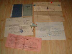 Konvolut 2 x Soldbuch & Papiere Dokumente Ordensband von 1915-1939 Hupfeld WW1