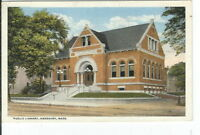CG-057 MA, Amesbury, Public Library, White Border Era Postcard Massachusetts
