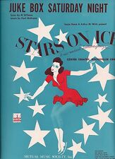 Stars on Ice Sheet Music 1942 JUKE BOX SATURDAY NIGHT