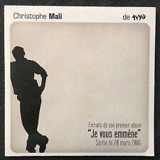 Christophe Mali CD Je Vous Emmène - Promo 5 titres - France (EX/M)