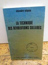 """Cartomancie ésotérisme Astrologie """"la technique des révolutions solaires"""""""
