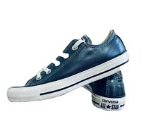 Converse Unisex Chuck Taylor All Star Metallic Blue, Women's Size 5 New