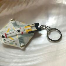 Estate Star Wars or Trek Plastic Space Ship with Flashlight Key Chain or Back Pa