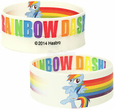 NEW My Little Pony RAINBOW DASH REVERSIBLE Rubber Bracelet Hasbro FREE SHIPPING