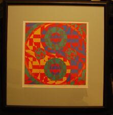 Original silkscreen Toshinobu Onosato 1969 mid century abstract LE   Japan