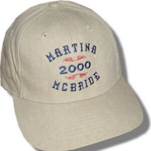 Martina Mcbride 2000 Tour Tan Baseball Hat Cap New Official Licensed