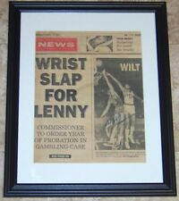 Wilt Chamberlain Signed Autographed 11x14 Newspaper Cover Photo JSA AH LOA!