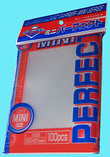 100 KMC MINI CLEAR PERFECT FIT Small Size Card Barrier Sleeves NEW Penny 1 Pack