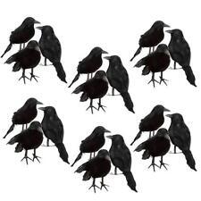 18pcs Realistic Black Feathered Crows Birds Ravens Foam Halloween Decoration