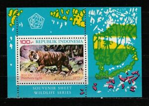 38357) Indonesia 1977 MNH Tiger S/S