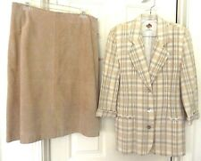 St John's Bay Suede Skirt & Simply Manakin Blazer Outfit-size 12