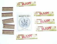 5 Raw Organic Rolling Papers  with Grinder & Free Tips - Small gift set