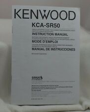 KENWOOD KCA-SR50 SIRIUS INTERFACE BOX INSTRUCTION MANUAL FAST-FREE SHIPPING