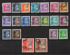 HONG KONG QUEEN ELIZABETH 1992 DEFINITIVES - 20 FROM SET INC $10 $20 - GOOD USED