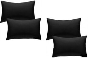 4 PACK Black 100% Egyptian Cotton Housewife Hotel Quality Pillowcases