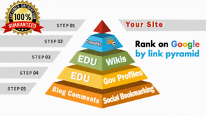 Rank on Google 1st page by exclusive Link Pyramid Backlinks high authority