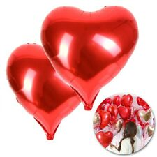 60cm Red Heart Foil Balloons Valentines Day Wedding Engagement Decorations