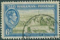 Bahamas 1938 SG159 6d Port Charlotte KGVI FU