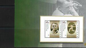Australia 1997 - Australian Legends. Sir Donald Bradman. 2v MS