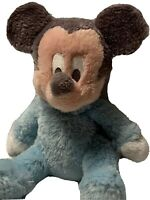 Disney Parks Baby Mickey Mouse Rattle Authentic Original Plush Stuffed Toy 9""