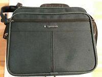 VTG Samsonite Silhouette 5 Carry On Weekend Bag Luggage strap 12x14x7.5 GREEN