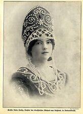 Gräfin Nada Torby (Tochter des Großfürsten) in russischer Nationaltracht c.1912
