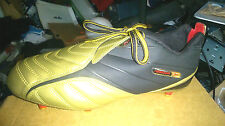 REEBOK football boots balini in GOLD/black size 5 O  5.5 uk at £18 bnwl man made