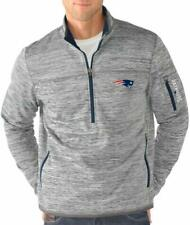 G-III Sports New England Patriots Men's Fast Pace Half Zip Jacket - Gray
