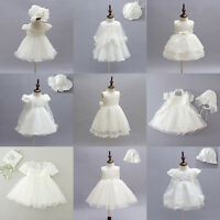 9 Design Toddler Baby Girls Floral Party Wedding Baptism Christening Gown Dress