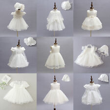 Toddler Baby Girls Floral Party Wedding Baptism Christening Gown Dress Outfit