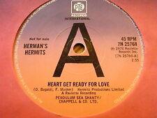"HERMAN'S HERMITS - HEART GET READY FOR LOVE  7"" VINYL DEMO"