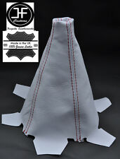 RED STITC SHIFT BOOT FOR HONDA ACURA INTEGRA DC5 2002-2006 COUPE WHITE LEATHER