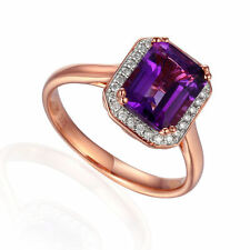 Cocktail Amethyst Not Enhanced Fine Rings