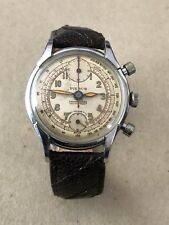 Genuine Vintage PIERCE Chronograph Watch Manual S/S Case For Men