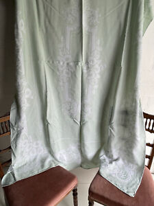 Vintage Damask Linen Tablecloth 294 x 188cm