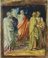 N1-017. SCÈNE BIBLIQUE. HUILE SUR CUIVRE. XXE SIÈCLE
