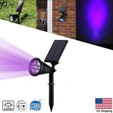 Solar Power Spot Light Outdoor Garden Security Gutter Lamp 4-LED Flood Purple