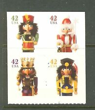 US Scott # 4364 - 4367 // 4367a Holiday Nutcrackers Block of 4 2008  MNH